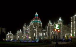 Het Parlementsgebouw in Victoria stock foto's