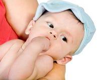 Het pasgeboren geïsoleerde jonge geitje Royalty-vrije Stock Foto