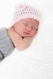 Het pasgeboren Meisje van de Baby Stock Foto