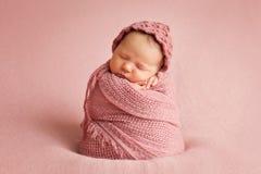 Het pasgeboren Meisje van de Baby Stock Afbeelding