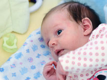 Het pasgeboren Meisje van de Baby Royalty-vrije Stock Fotografie