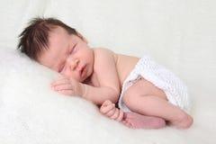 Het pasgeboren Meisje van de Baby Royalty-vrije Stock Foto's
