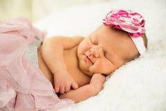 Het pasgeboren Meisje van de Baby Royalty-vrije Stock Foto