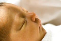 Het pasgeboren Profiel van de Close-up van het Meisje stock foto