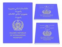 Het Paspoort van Afghanistan Stock Afbeeldingen