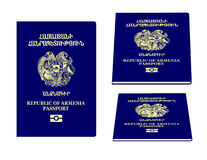 Het Paspoort van Armenië Royalty-vrije Stock Foto's