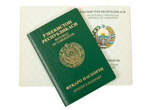 Het paspoort van Oezbekistan Royalty-vrije Stock Foto