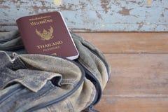 Het paspoort van Thailand Stock Afbeeldingen