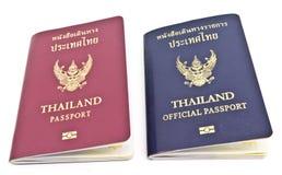 Het Paspoort van Thailand en het officiële paspoort van Thailand Royalty-vrije Stock Afbeeldingen