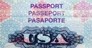 Het Paspoort van Verenigde Staten stock foto's