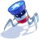 Het patriottische Amerikaanse vectorbeeldverhaal van de insectenrobot stock illustratie