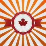 Het patriottische Embleem van Canada met Lint vector illustratie
