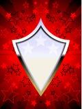 Het patriottische rood van het chroomschild Royalty-vrije Stock Foto