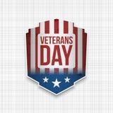 Het patriottische Teken van de V.S. van de veteranendag vector illustratie