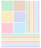Het patroon buigt gekleurd multi Stock Foto's