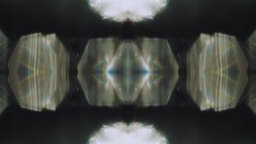 Het patroon cyberpunk elegante holografische achtergrond van het caleidoscoopneon stock videobeelden