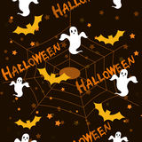 Het patroon/de achtergrond van Halloween Stock Foto