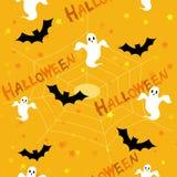 Het patroon/de achtergrond van Halloween Royalty-vrije Stock Afbeeldingen