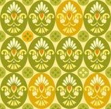 Het patroon, de ovalen en de cirkels van de bloemkleur Royalty-vrije Stock Afbeeldingen