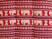 Het patroon is een hoofdkussen van Noordoostelijk Thailand stock foto