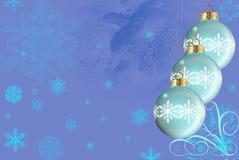 Het patroon en de ballen van de winter Stock Fotografie