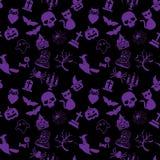 het patroon en het pictogram van Halloween Stock Foto