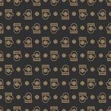 Het patroon gouden stijl van de Kerstmisvuisthandschoen op witte achtergrond voor productbevordering Stock Foto