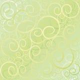Het patroon groen goud van de werveling royalty-vrije illustratie