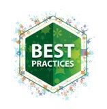 Het patroon groene hexagon knoop van best practicen bloemeninstallaties stock foto's