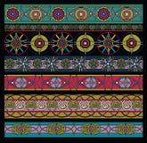 Het patroon kleurde, geometrische geplaatste elementen Royalty-vrije Stock Afbeeldingen