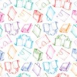 Het patroon met het winkelen doet in zakken Royalty-vrije Stock Afbeelding