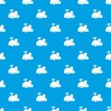 Het patroon naadloos blauw van de uurwerkmuis Stock Foto's