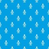 Het patroon naadloos blauw van het kunstmatige intelligentieconcept Stock Fotografie