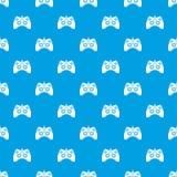 Het patroon naadloos blauw van het videospelletjecontrolemechanisme Stock Foto's