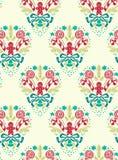 Het patroon naadloos wit blauw van het Kerstmis vectordamast stock illustratie