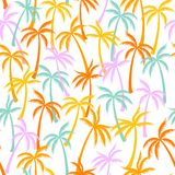 Het patroon naadloze achtergrond van de kokosnotenpalm royalty-vrije illustratie