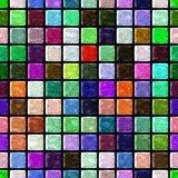 Het patroon naadloze achtergrond van het oppervlakte marmeren mozaïek met zwarte pleister - volledig kleurenspectrum - vierkante  Royalty-vrije Stock Afbeeldingen
