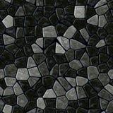Het patroon naadloze achtergrond van het vloer marmeren mozaïek met zwarte pleister - donkergrijze grijze kleur stock illustratie