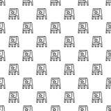 Het patroon naadloze vector van de tribuneraad vector illustratie