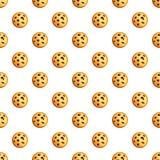 Het patroon naadloze vector van pindakoekjes stock illustratie