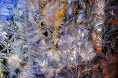 Het patroon op het glas Royalty-vrije Stock Fotografie