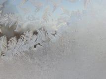 Het patroon op het ijzige glas Royalty-vrije Stock Afbeelding