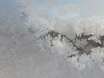 Het patroon op het ijzige glas Stock Afbeeldingen