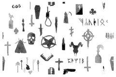 Het patroon op het thema van dood stock afbeelding