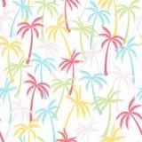 Het patroon textiel naadloze tropische bosachtergrond van de kokosnotenpalm royalty-vrije illustratie