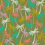 Het patroon textiel naadloze tropische bosachtergrond van de kokosnotenpalm vector illustratie