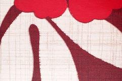 Het patroon van af:drukken op stof als achtergrond Royalty-vrije Stock Foto's