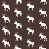 Het patroon van Amerikaanse elandenkerstmis stock afbeelding