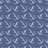 Het patroon van het anker Uitstekende ankers van het ijzer verschepen de zware silhouet voor overzeese boot en oceaan embleemillu royalty-vrije illustratie