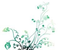 Het patroon van bladeren en van wijnstokken stock illustratie